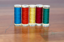 Row of Colored Thread