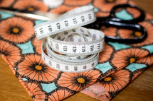 Tape Measure and Fabric