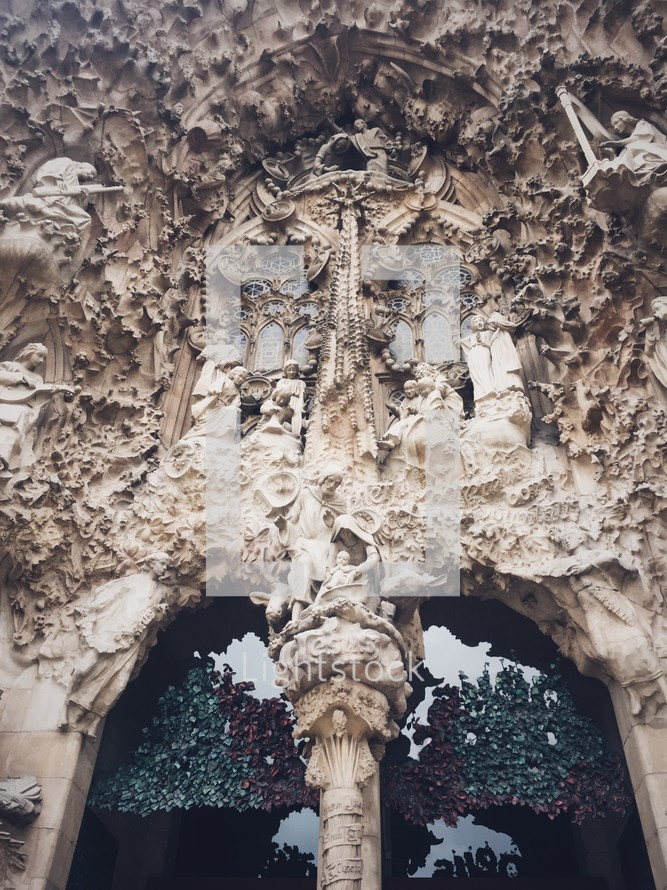ornate carved stone cathedral