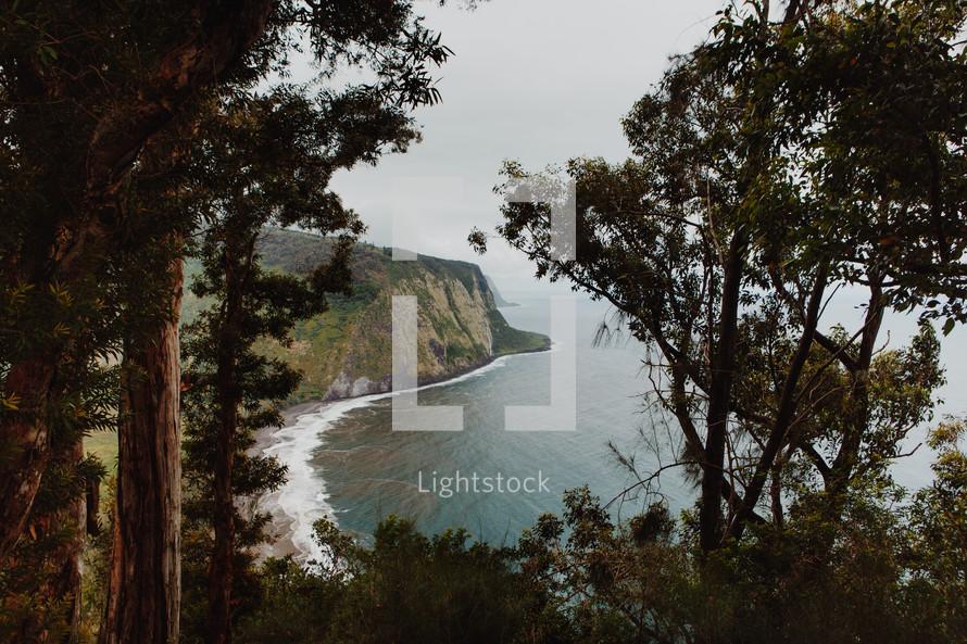 cliffs along an island shore