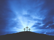 three crosses on mount calvary