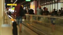 airport walkway timelapse