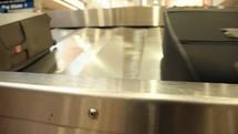 luggage on a baggage carousel