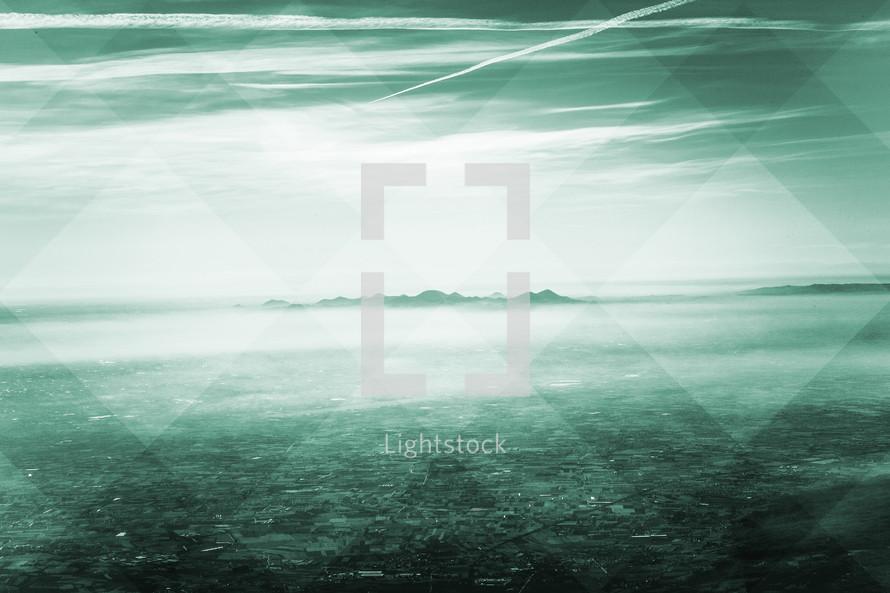abstract vast land