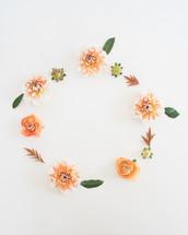 fall flowers frame