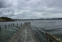 pier over water in Lysekil, Sweden
