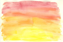 Watercolor texture of a sunrise sky.