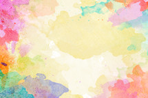 A pastel watercolor background.