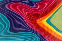 rainbow wood swirls