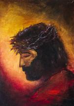 Jesus Christ icon. original oil painting on canvas