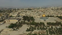 drone over the city of Jerusalem