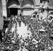 Easter procession at the Holy Sepulcher.
