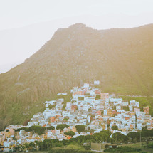 houses in a town in Teneriffa