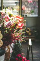 flowers in a flower shop