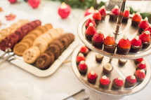 desserts at a Christmas party