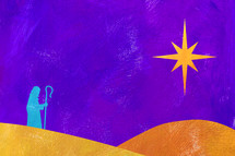 Acrylic of Christmas shepherd Shepherd