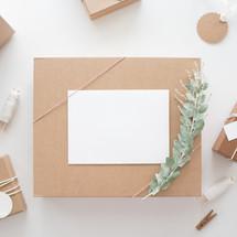 brown gift boxes for Christmas