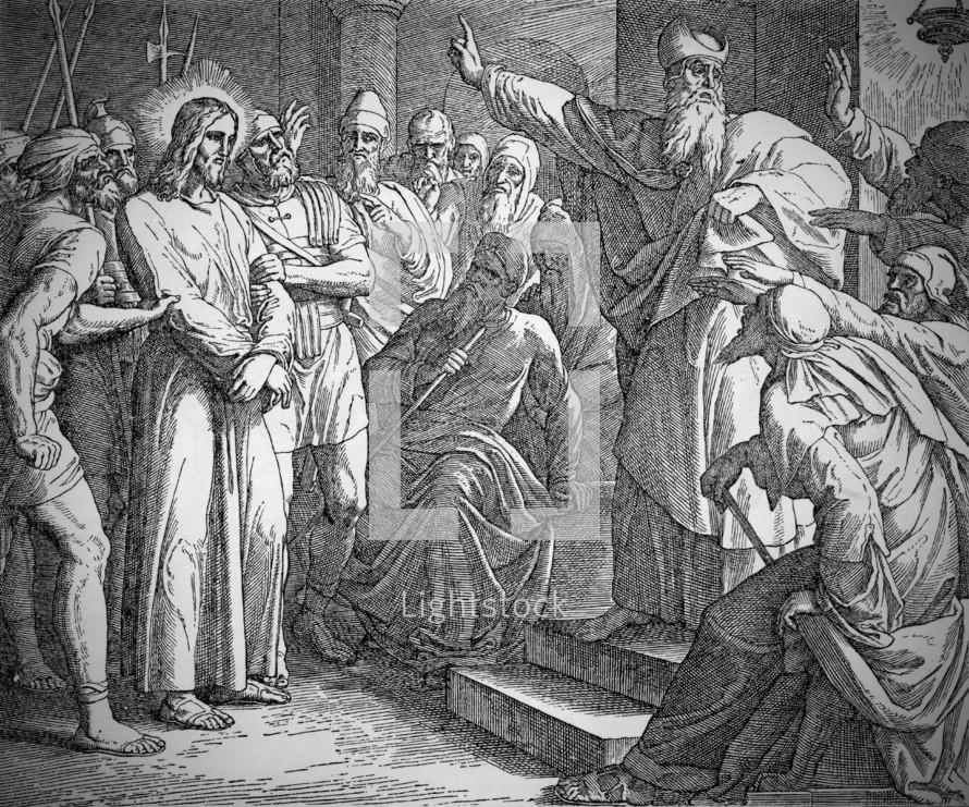 Jesus Before the Sanhedrin. Matthew 26:57-67