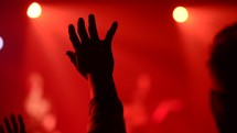Lifting hands during worship