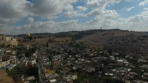 a drone over the city of Jerusalem