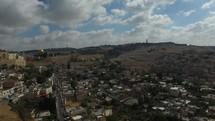 a drone over the city of Jerusalem