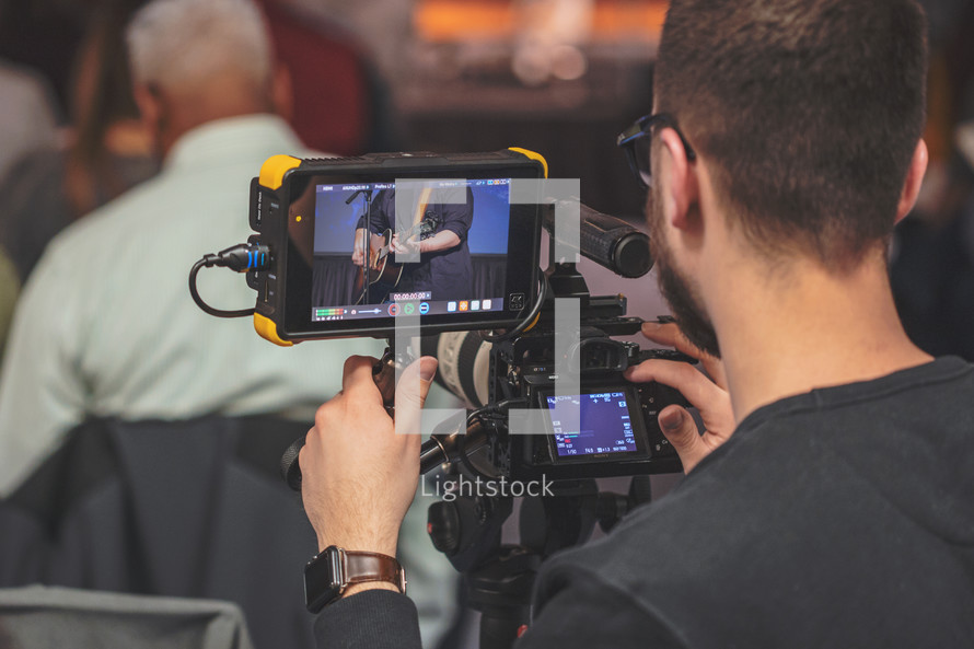 video cam recording for live stream or video editing