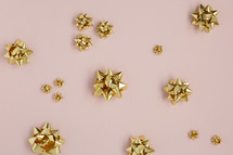 gold Christmas bows