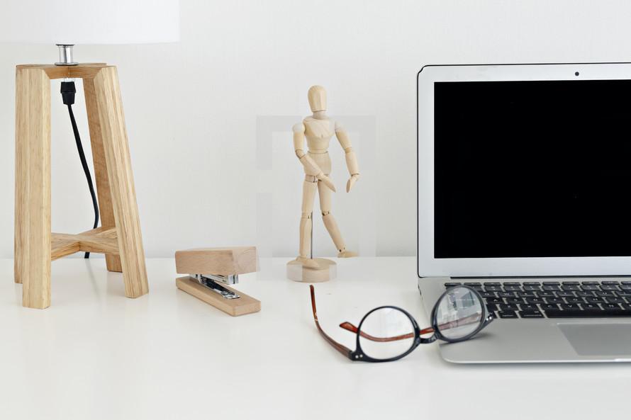 laptop computer on a desk