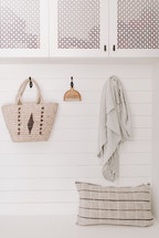 hooks in a mudroom