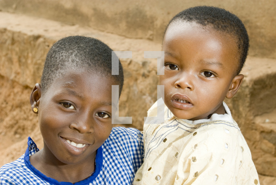 Two african children smiling