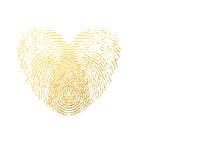 fingerprint heart in gold