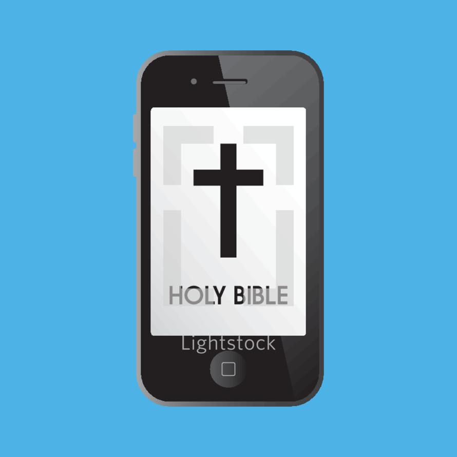 Holy bible iphone app — Vector — Lightstock