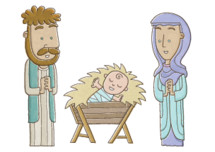 holy family cartoon