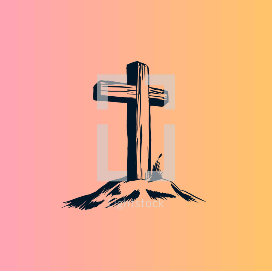 cross on a mount