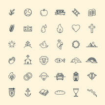 biblical themed icon set