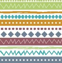 seamless hand drawn tribal pattern