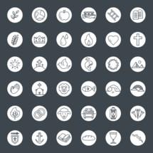 biblical themed icon set