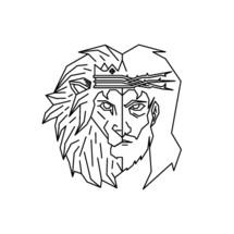 Jesus and Lion