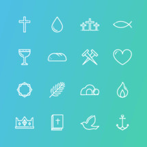 holy week icon set