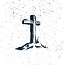 cross on a mount