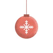 snowflake on a Christmas ornament