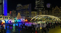 Christmas celebrations, Nathan Phillips Square, Toronto, Canada
