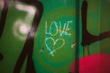 word love graffiti