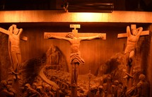 the Crucifixion wooden sculpture