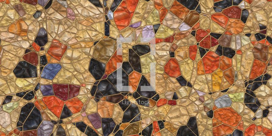 gold black orange mosaic seamless tile