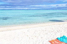 beach towels on the sand on a Polynesian Beach