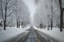 plowed road