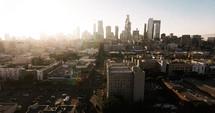 City sunrise view