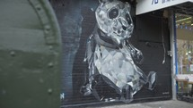 Panda mural street art