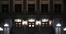 Utah capitol Dome at night